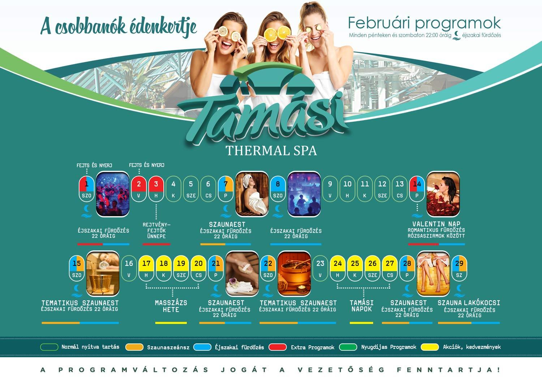 Tamási fürdő - februári programjaink